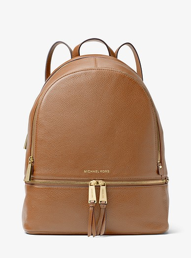 e30b49c895a9 Rhea Large Leather Backpack | Michael Kors