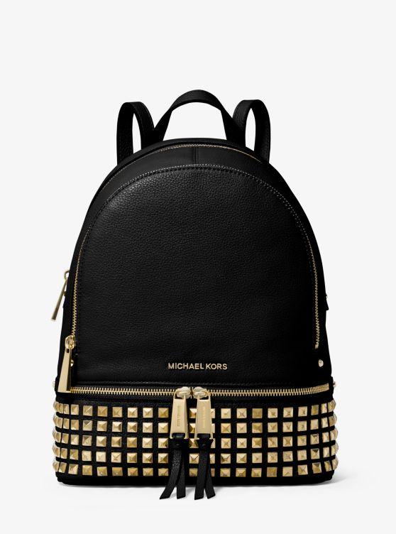 Michael Kors Rhea small studded leather backpack 5tiV4D5v