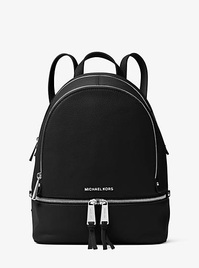 Rhea Medium Leather Backpack Michael Kors