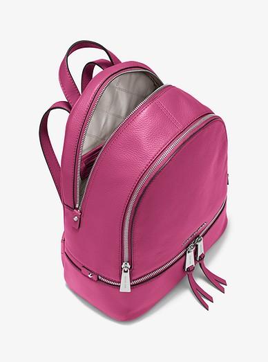 658f7611e9f3d4 Rhea Medium Leather Backpack. Rhea Medium Leather Backpack. Rhea Medium  Leather Backpack. MICHAEL Michael Kors