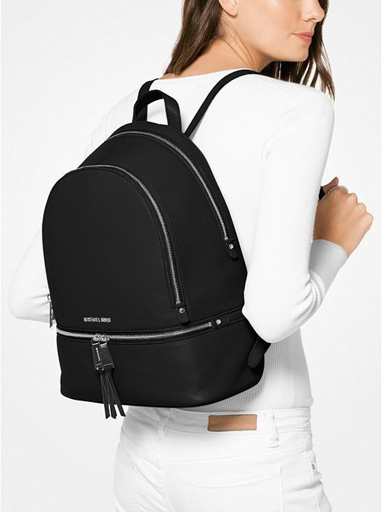 Rhea Large Leather Backpack   Michael Kors