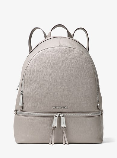 91792be39ef4 Rhea Large Leather Backpack | Michael Kors