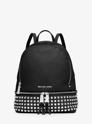 rhea small studded leather backpack michael kors rh michaelkors com