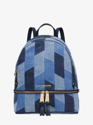 71462159db1c Rhea Medium Mosaic Patchwork Denim Backpack | Michael Kors