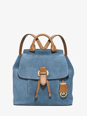 5fd696e02772 Romy Medium Suede Backpack | Michael Kors