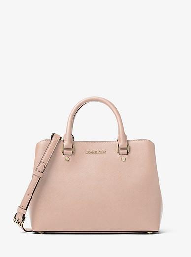 e3e98530b9c1 Savannah Medium Saffiano Leather Satchel | Michael Kors