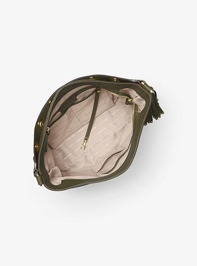 99d328cc237d Brooklyn Large Leather Shoulder Bag. Brooklyn Large Leather Shoulder Bag. MICHAEL  Michael Kors