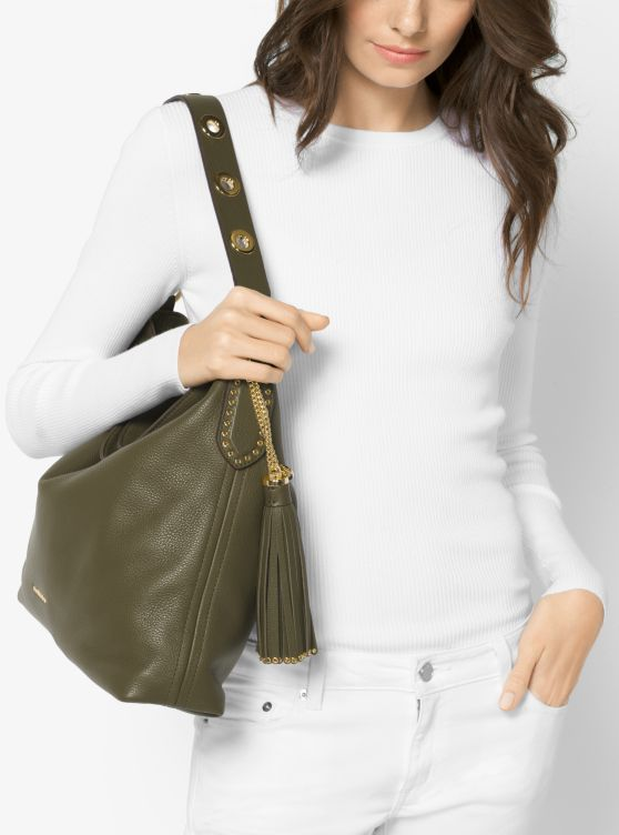 Brooklyn Large Leather Shoulder Bag
