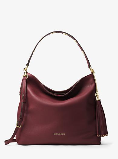 Brooklyn Large Pebbled Leather Shoulder Bag Michael Kors