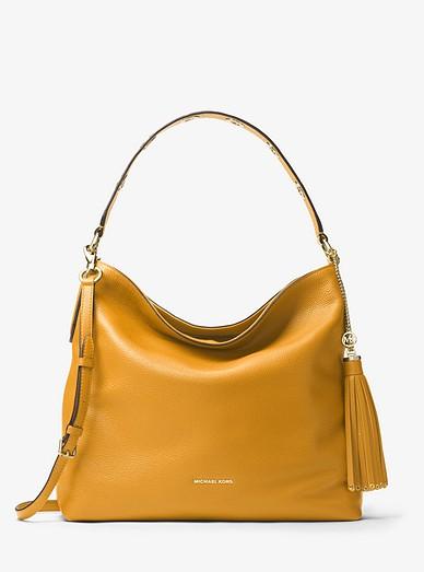 26dd587da793 Brooklyn Large Leather Shoulder Bag   Michael Kors
