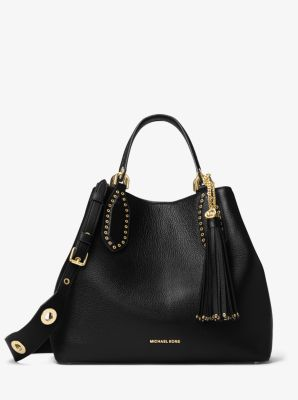 brooklyn large leather satchel michael kors rh michaelkors com