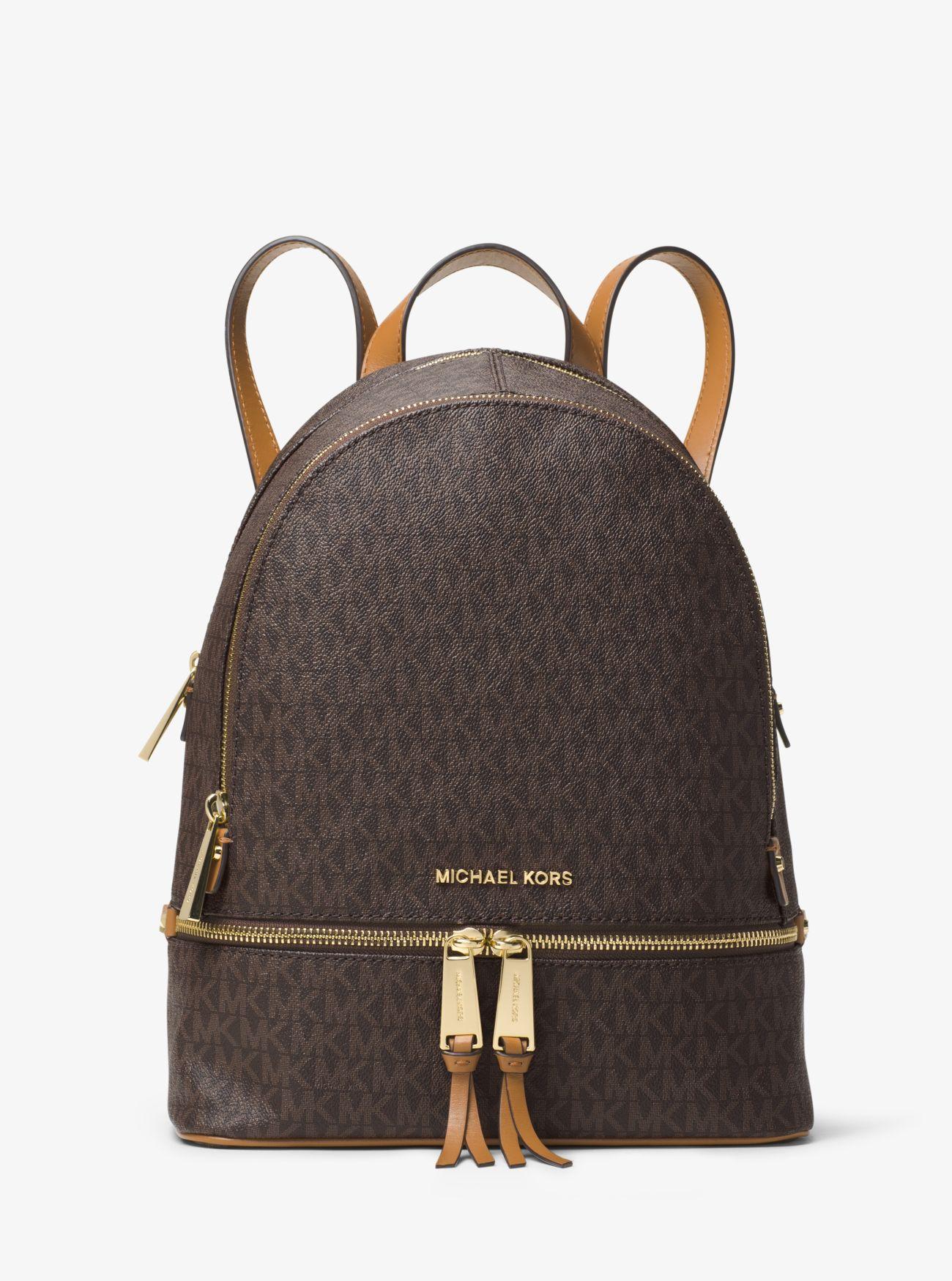 Rhea Medium Logo Backpack | Michael Kors