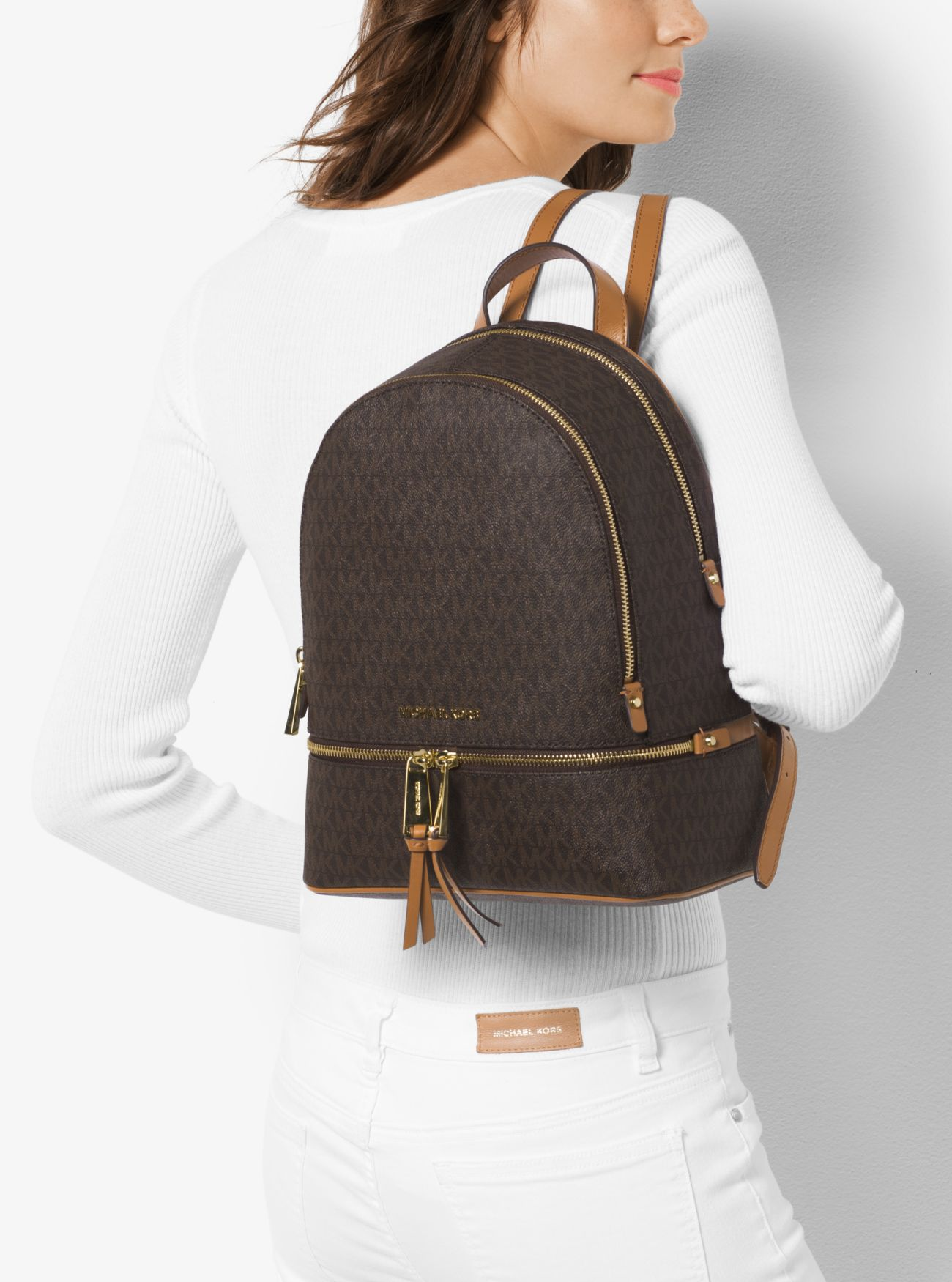65d5087e5a30 ... Rhea Medium Logo Backpack Rhea Medium Logo Backpack Rhea Medium Logo  Backpack. MICHAEL Michael Kors