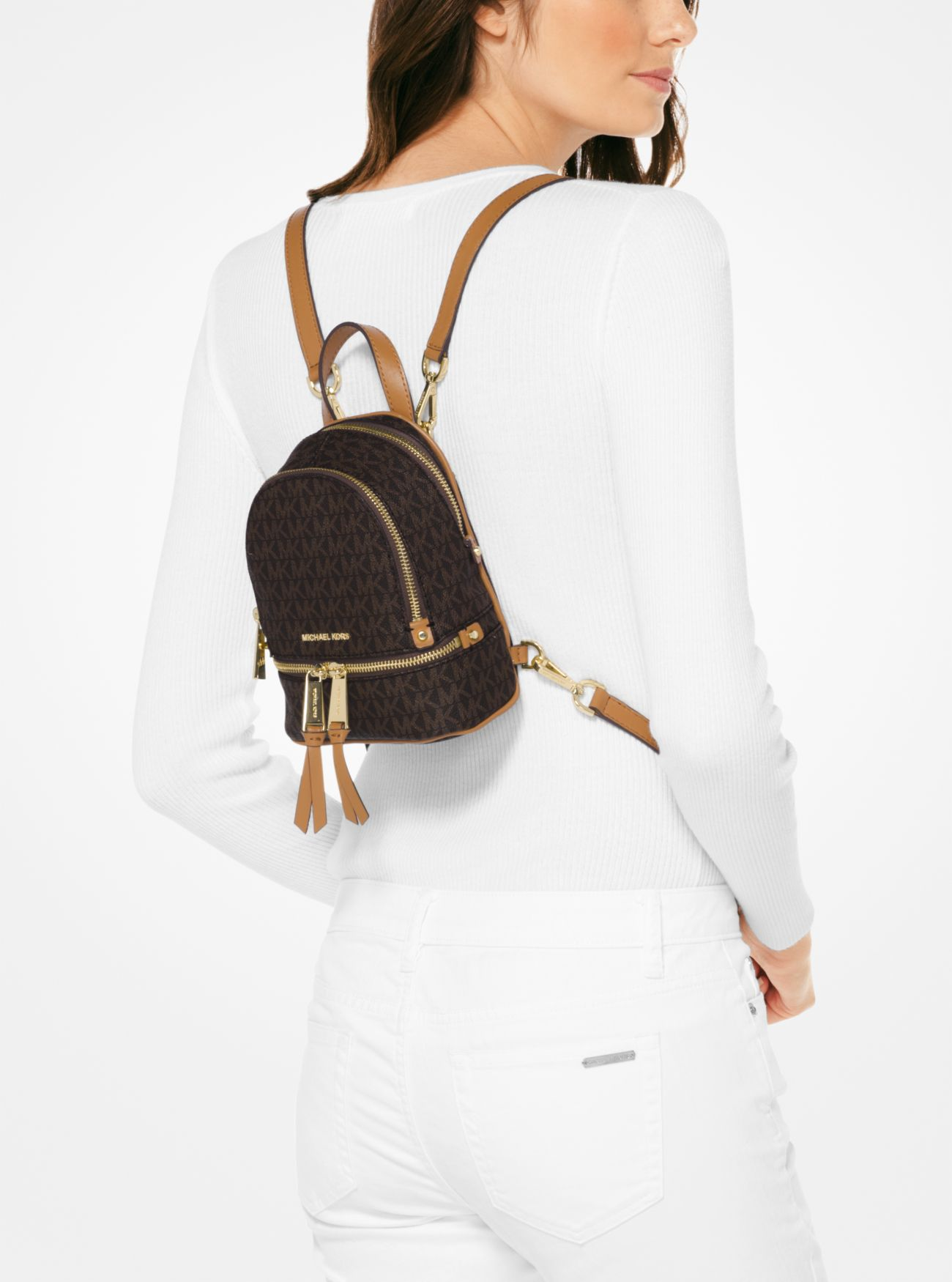 32cddf2f20b2 ... Rhea Mini Logo Backpack Rhea Mini Logo Backpack. MICHAEL Michael Kors