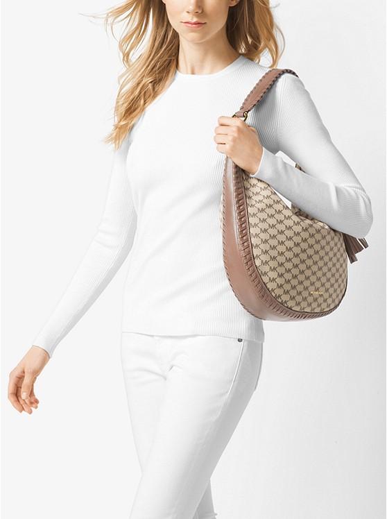 69e55fc25c83 Lauryn Large Logo Shoulder Bag | Michael Kors