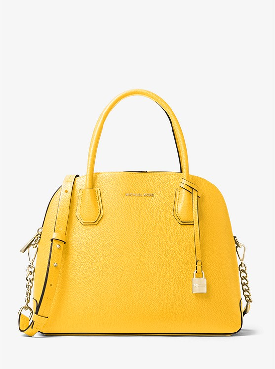 Mercer Large Leather Dome Satchel