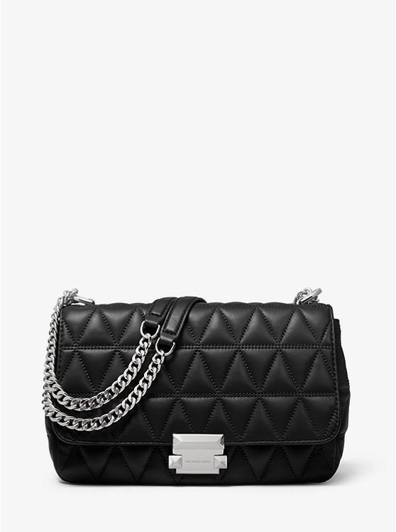 Sloan Large Quilted leather Shoulder Bag | Michael Kors