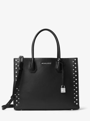 michael kors black studded purse
