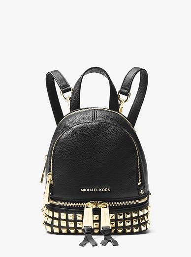 fb4730ee2f66 Rhea Mini Studded Leather Backpack