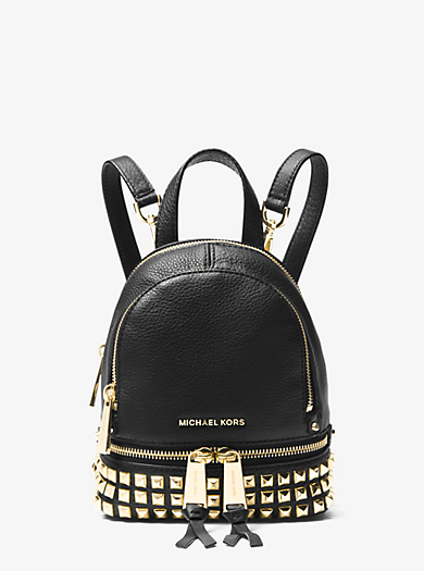 eefea495f1f5 Rhea Mini Studded Leather Backpack | Michael Kors