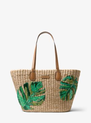 e39de02c89f1 ... cheap malibu palm embroidered woven straw tote michael kors d7dca 71c4e
