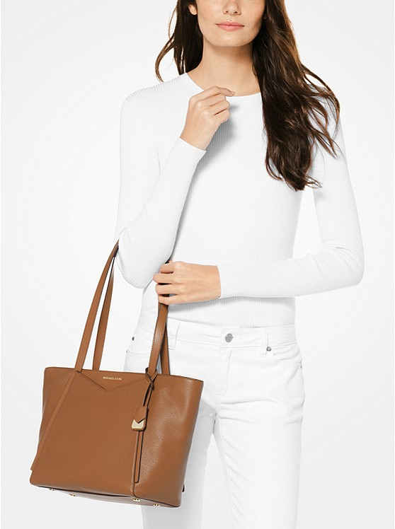 1abd839f5f10 Whitney Small Pebbled Leather Tote Bag | Michael Kors