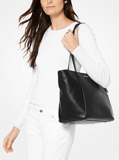 29d5dfdd9b697a Whitney Large Leather Tote Bag. MICHAEL Michael Kors