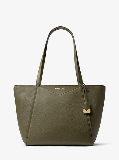 49799d803ae3 Whitney Large Leather Tote Bag | Michael Kors