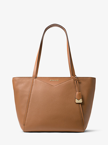 f36742a0a5b1 Whitney Large Leather Tote Bag | Michael Kors