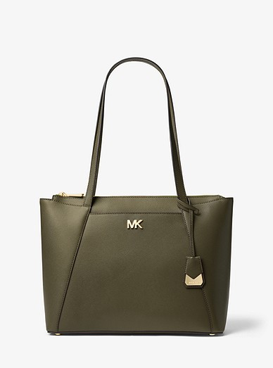 1a455875b6c Maddie Medium Crossgrain Leather Tote Bag | Michael Kors