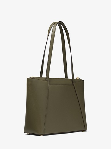 9e7954fa58655 Maddie Medium Crossgrain Leather Tote Bag | Michael Kors