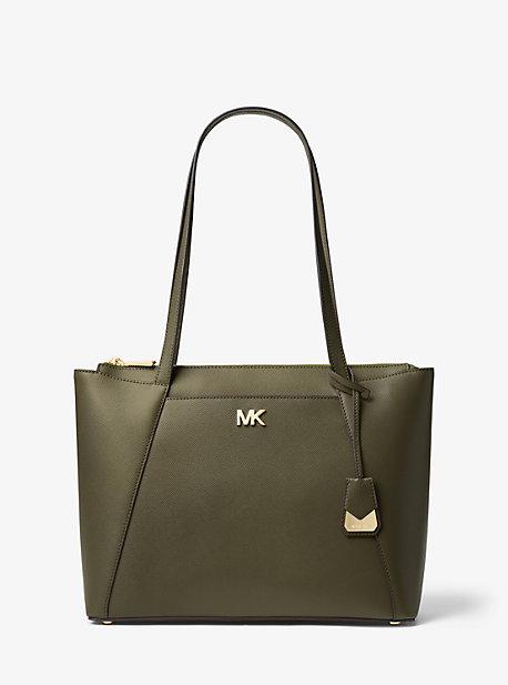 b9416004d Maddie Medium Crossgrain Leather Tote Bag. michael michael kors ...