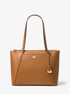 56f77c704aa305 Maddie Medium Crossgrain Leather Tote Bag | Michael Kors