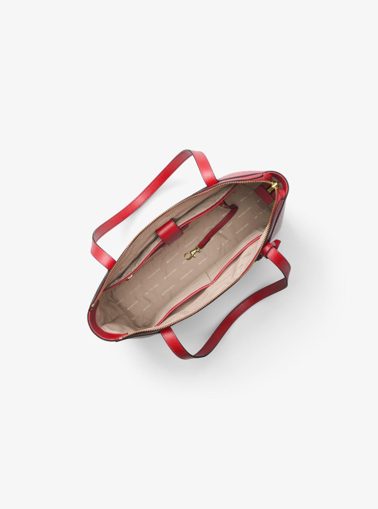 3e3dd093819e Maddie Medium Crossgrain Leather Tote Bag Maddie Medium Crossgrain Leather  Tote Bag Maddie Medium Crossgrain Leather Tote Bag. MICHAEL Michael Kors