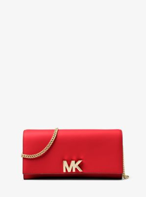 mott leather chain wallet michael kors rh michaelkors com
