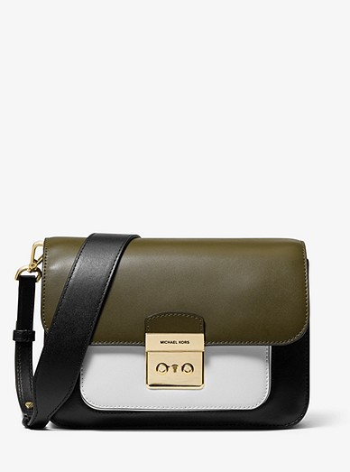 8623ea082a38 Sloan Editor Color-block Leather Shoulder Bag | Michael Kors