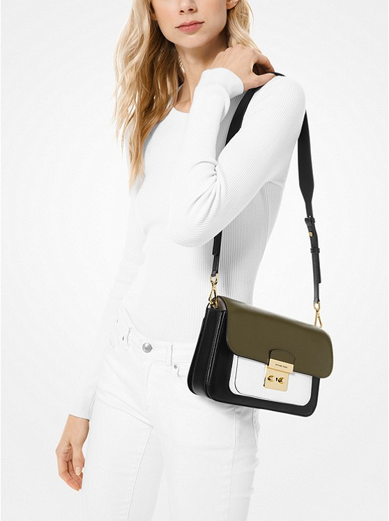 1c63064be4b8 Sloan Editor Color-block Leather Shoulder Bag | Michael Kors