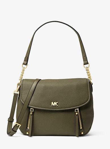fad93f30a2d0 Evie Medium Pebbled Leather Shoulder Bag