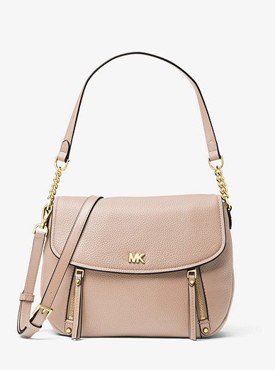 e3685b81e3232d Evie Medium Pebbled Leather Shoulder Bag | Michael Kors