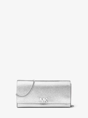 59a1d1b01bf7 Mott Metallic Leather Chain Wallet