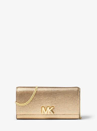 26ab2483e05d Mott Metallic Leather Chain Wallet | Michael Kors
