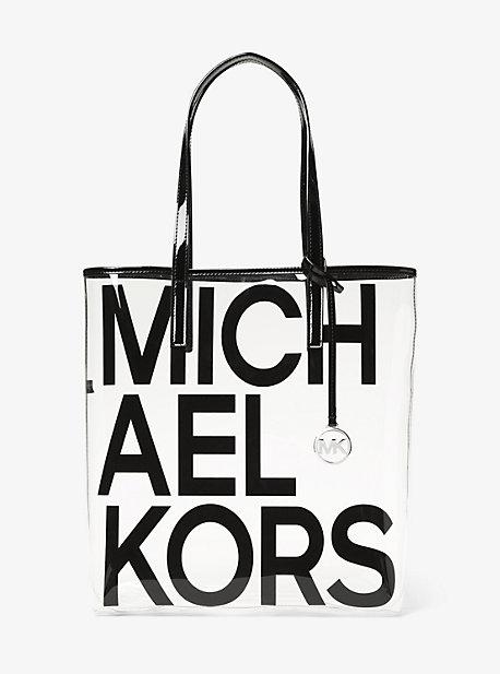 Grand sac fourre-tout Michael transparent à imprimé à logo graphique