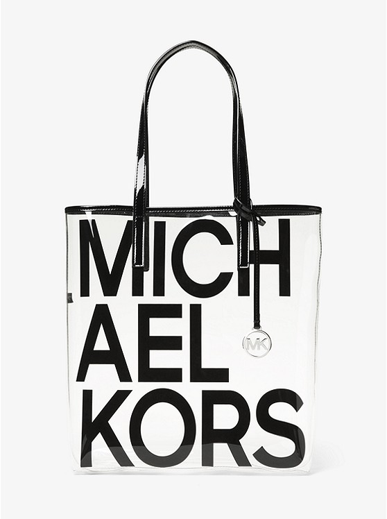 7233a53a4e The Michael Large Graphic Logo Print Clear Tote Bag   Michael Kors