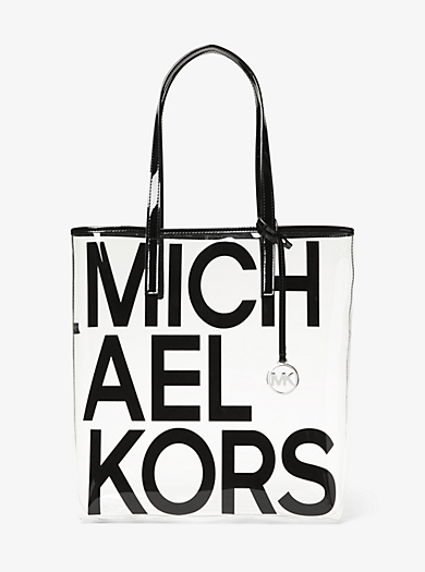7408d7d9f7e6 The Michael Large Graphic Logo Print Clear Tote Bag