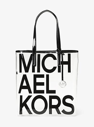 6bc9446027 Grand sac à main Michael transparent à imprimé logo graphique