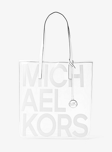 f9e84e34d8107f The Michael Large Graphic Logo Print Clear Tote Bag | Michael Kors