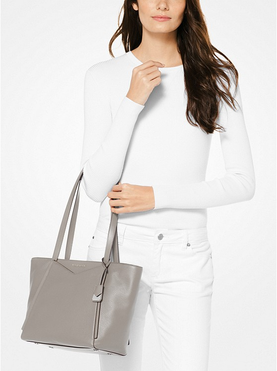 Whitney Small Pebbled Leather Tote Bag