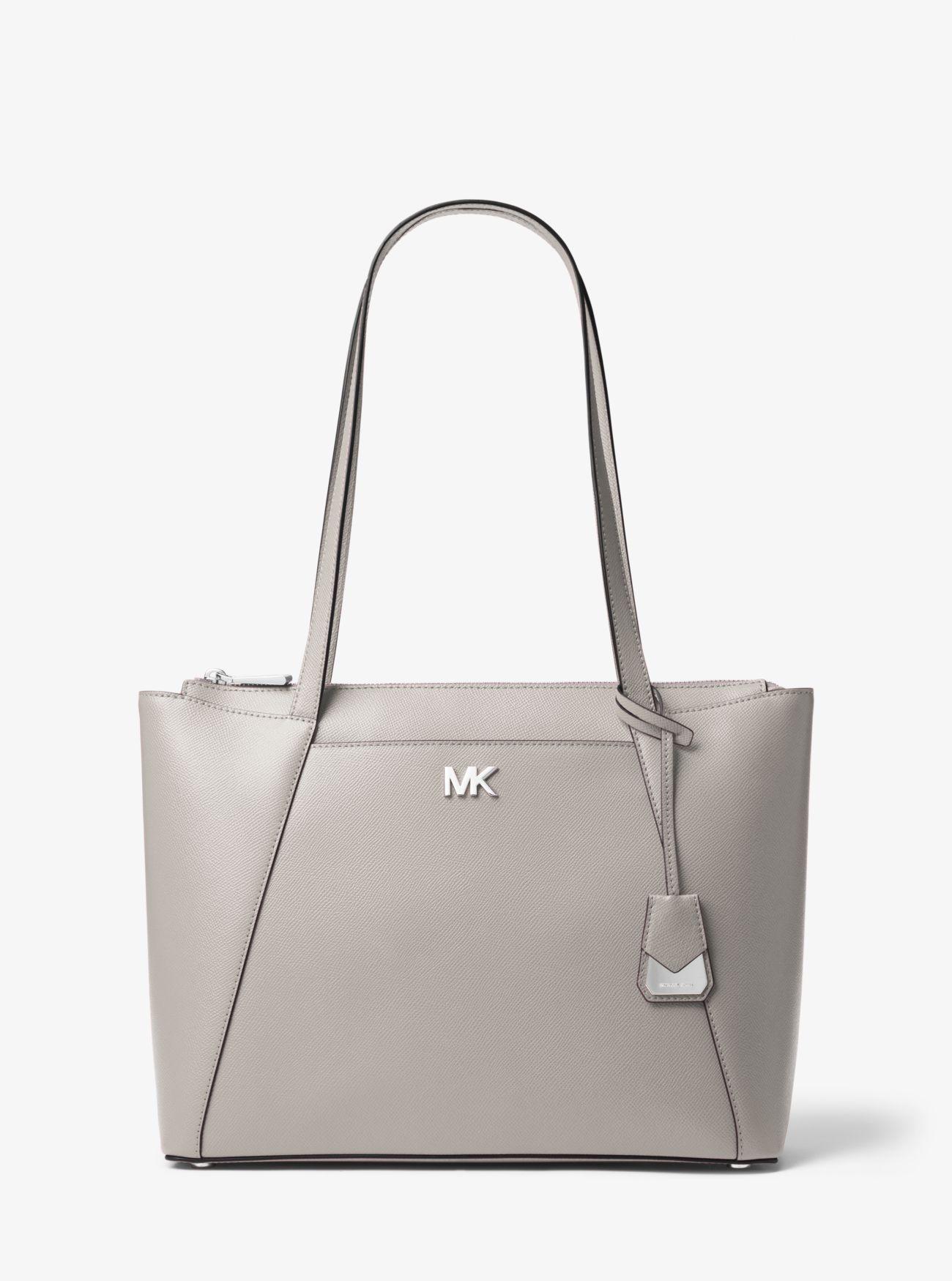 cc73065fee89 Maddie Medium Crossgrain Leather Tote Bag | Michael Kors