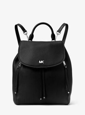 Evie Medium Leather Backpack Michael Kors