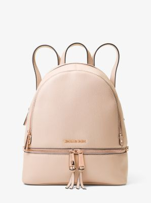 710ecd2e1c19 Shoptagr | Rhea Medium Leather Backpack by Michael Michael Kors